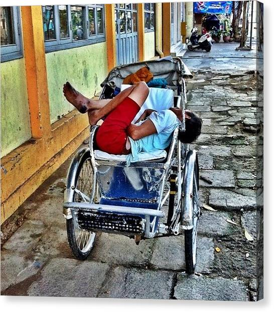 Vietnamese Canvas Print - Pulling Power🚲 Sleeping In #nhatrang by Richard Randall