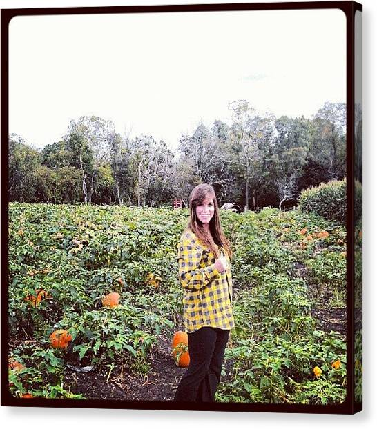 Flannel Canvas Print - Pumpkin Pickin'. @hatsofftoher #jaime by Captain Bell