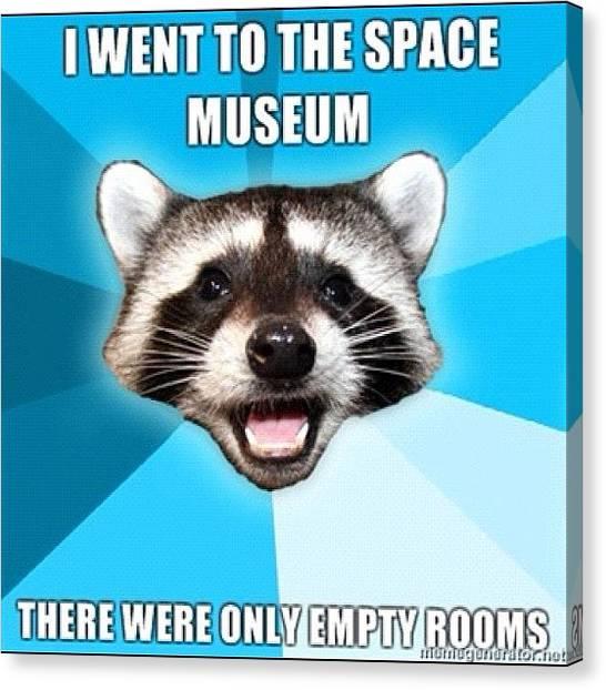 Raccoons Canvas Print - #pun #raccoon #museum #space by Jared Colbert