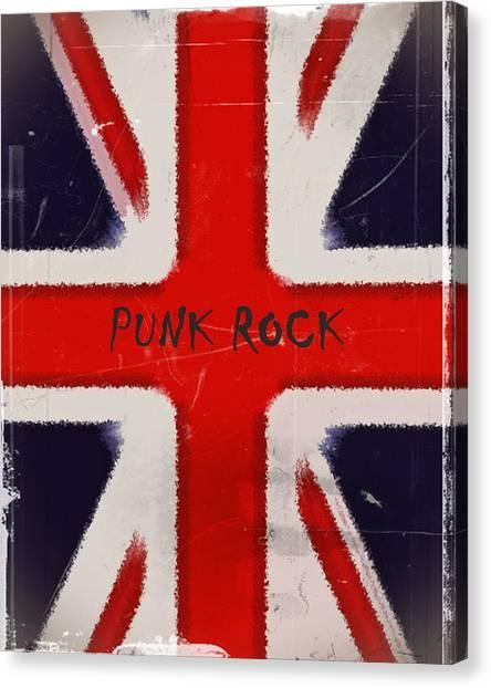 Punk Rock Canvas Print by Sharon Lisa Clarke