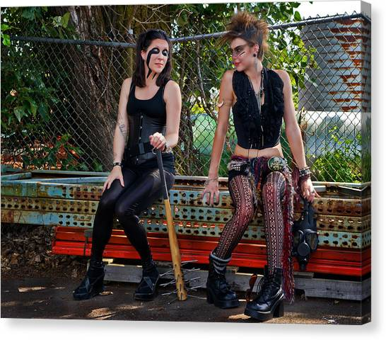 Punk Women Canvas Print by Jim Boardman