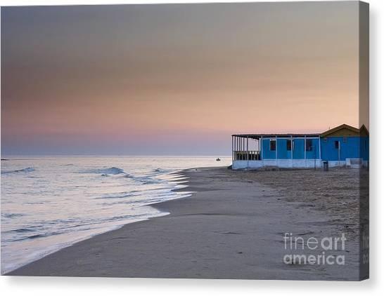 Punta Secca Sunset Canvas Print by Roberto Bettacchi