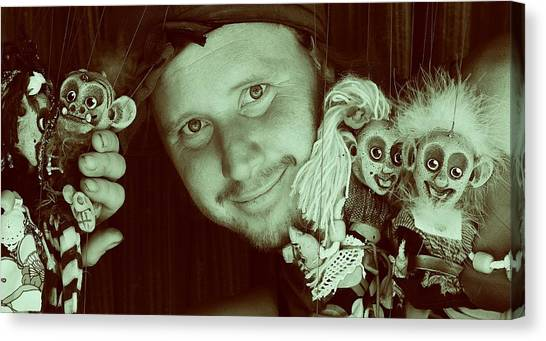 Puppets Break Out Canvas Print