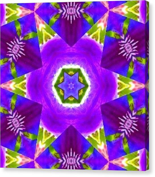 Fractal Canvas Print - #purple & Green #star #fractal #art by Pixie Copley