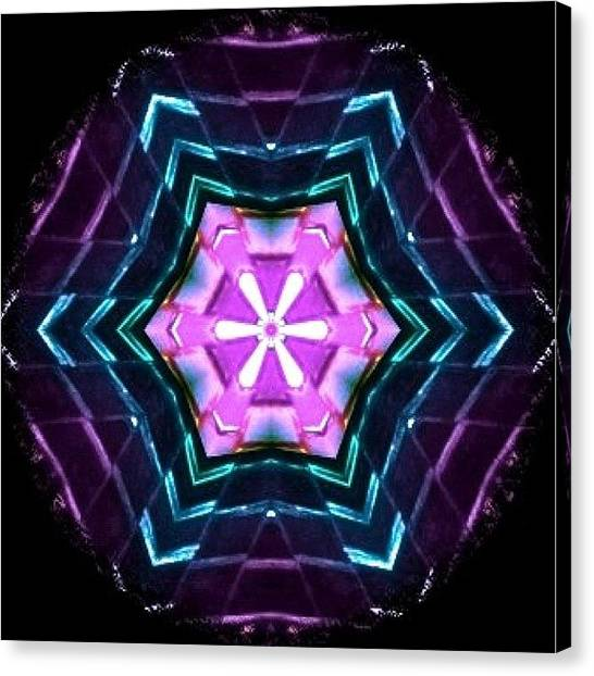 Mandala Canvas Print - Purple And Turquoise #meditating by Pixie Copley