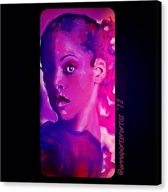 Apples Canvas Print - Purple Dancer 2012 Digital Painting By Annaporterartist by Anna Porter