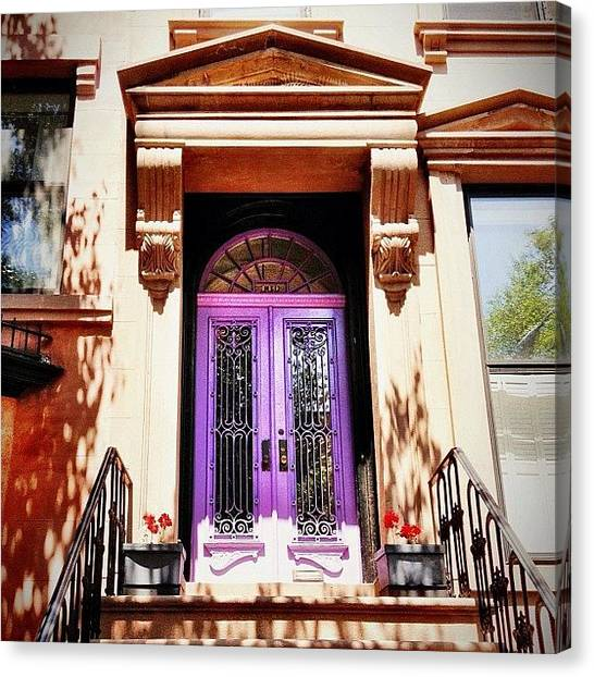 Times Square Canvas Print - Purple Door - Brooklyn - New York City by Vivienne Gucwa
