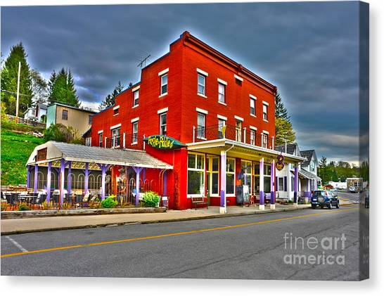 Purple Fiddle In Thomas Wv Canvas Print