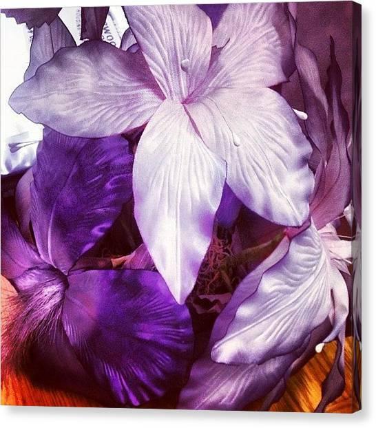 Grandma Canvas Print - #purple #flowers #pretty #beautiful by Lacey Supple