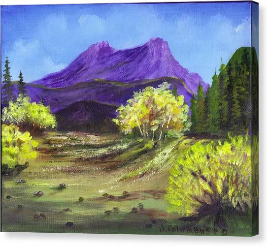 Purple Mountain Beauty Canvas Print by Janna Columbus