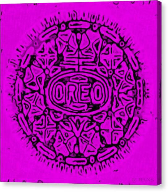 Nabisco Canvas Print - Purple Oreo by Rob Hans