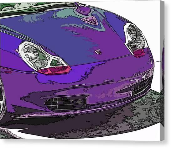 Purple Porsche Nose 2 Canvas Print
