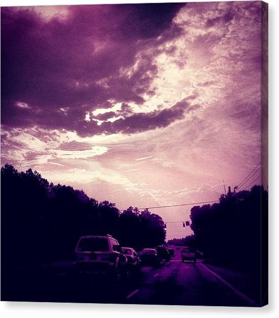 Driving Canvas Print - #purple #sky #clouds #driving by Katie Williams