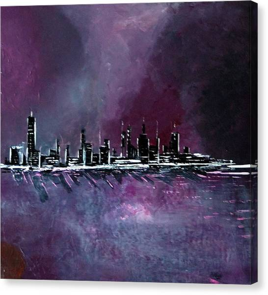 Purple Storm Canvas Print by Rob Heath