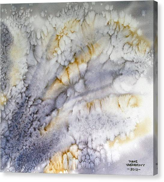 Purple Upsurge Canvas Print by Diane Vasarkovy