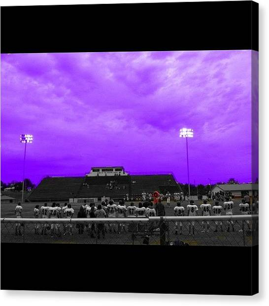 Football Teams Canvas Print - #purplepride #sky If It's #purple You by S Smithee