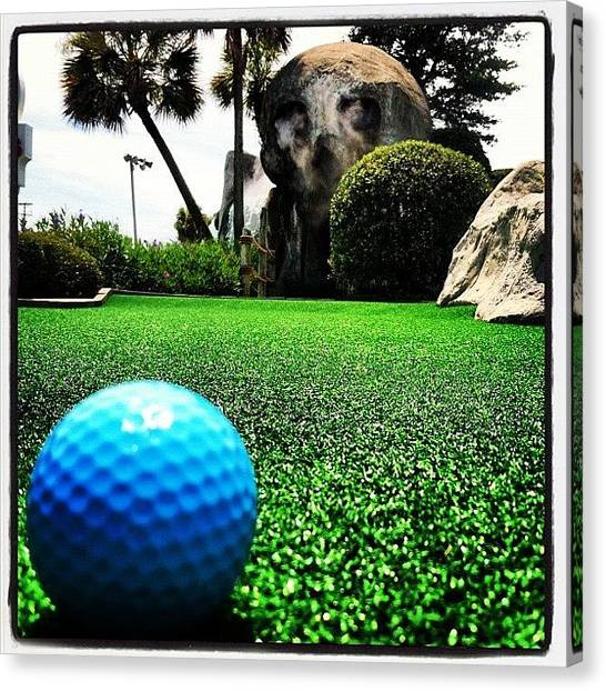 Sports Canvas Print - Putt Putt  by Lea Ward