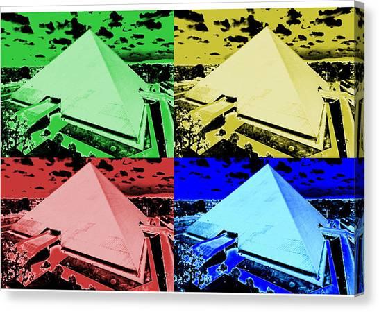 Cal State Long Beach Canvas Print - Pyramid Montage - California State University Long Beach by Michael  Kitahara