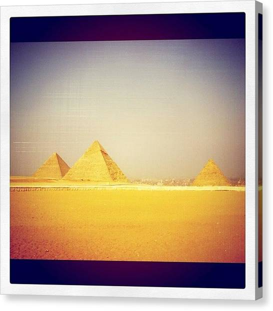 Triangles Canvas Print - Pyramids by Emily Moore