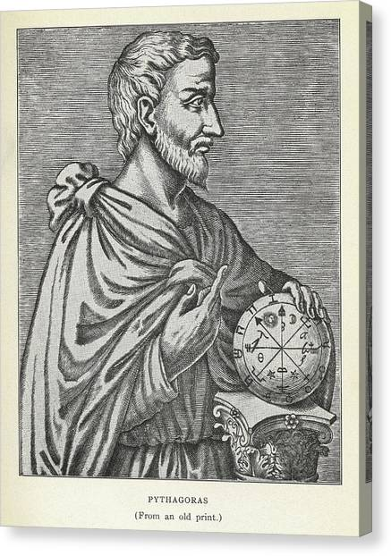 Irrational Canvas Print - Pythagoras, Ancient Greek Mathematician by Science, Industry & Business Librarynew York Public Library