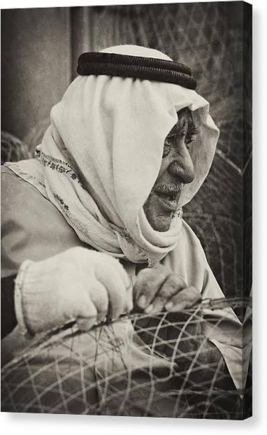 Qatari Fish-trap Maker Canvas Print