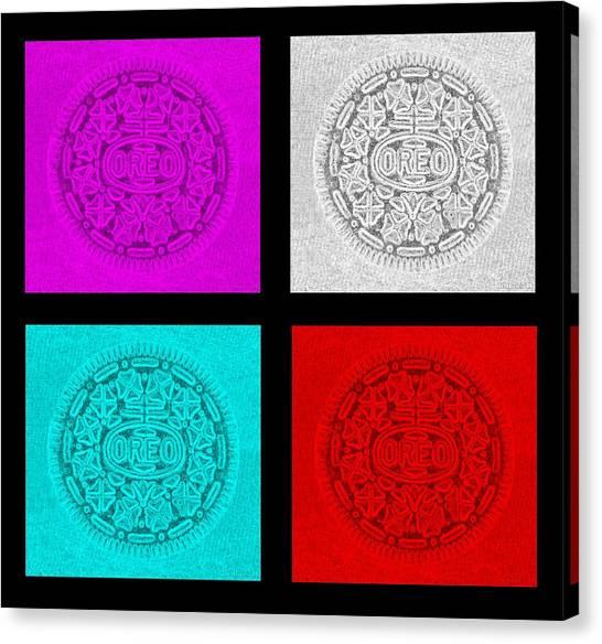 Nabisco Canvas Print - Quad Oreos by Rob Hans