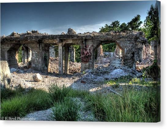 Quarry Ruins Canvas Print by Heather  Boyd