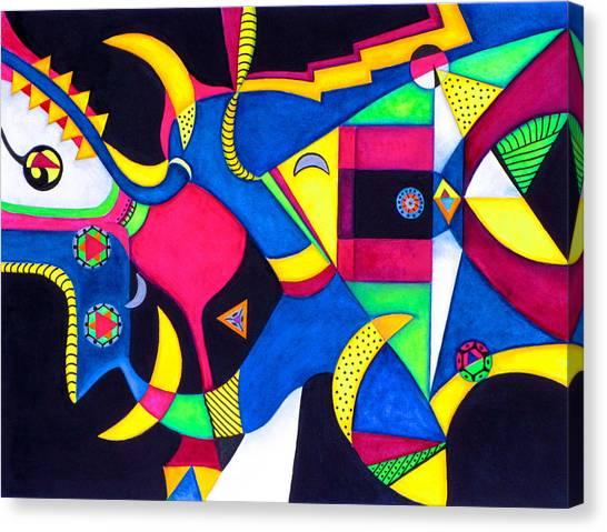 Quarter Moon Tango Canvas Print