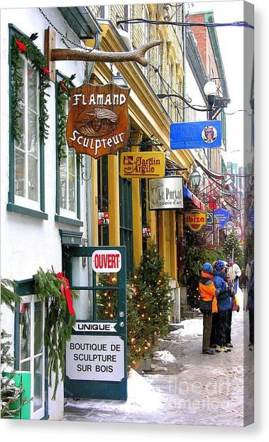 Quebec's Old City 2 Canvas Print