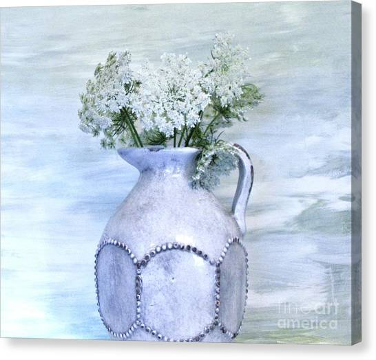 Queen Annes Lace Canvas Print by Marsha Heiken