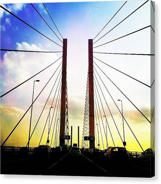 Queen Elizabeth Canvas Print - Queen Elzbth Bridge Kent Uk by K H   U   R   A   M