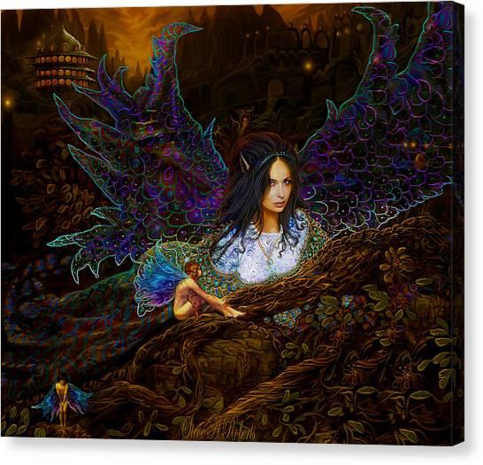 Queen Of The Fairies Canvas Print