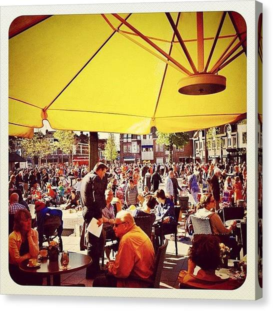 Queensday Canvas Print - Quensday In #venray Early This Morning by Wilbert Claessens