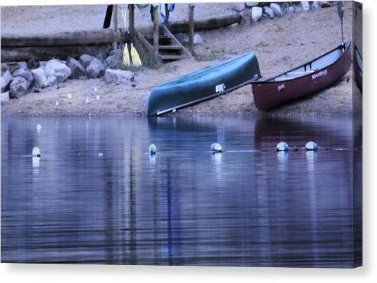 Quiet Canoes Canvas Print
