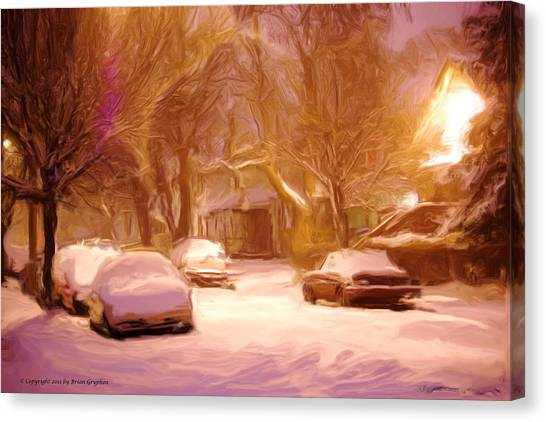 Quiet January Night Canvas Print