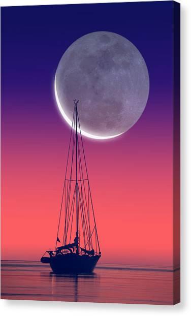 Quiet Sailboat Canvas Print