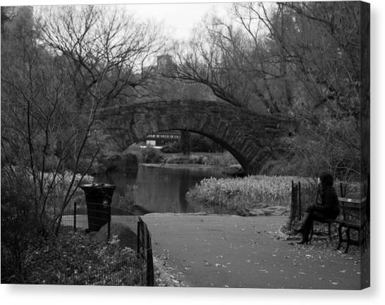 Quiet Time In Nyc Canvas Print by Kenneth Drylie