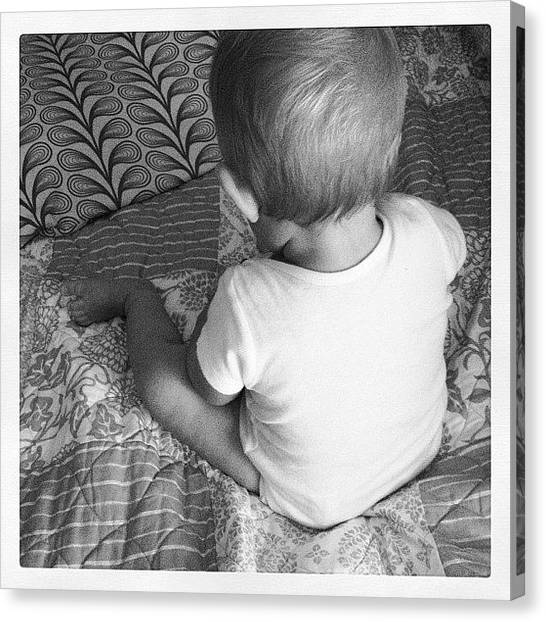 Seashells Canvas Print - Quiet Time by Melissa Snyder
