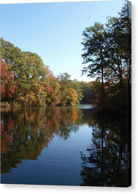 Quiet Water Canvas Print by Larry Krussel