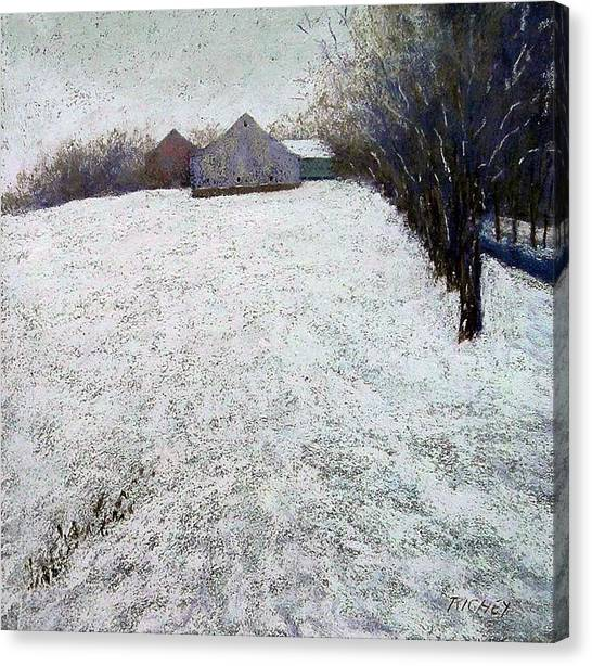 Quiet Winter Day In Bucks County Canvas Print by Bob Richey