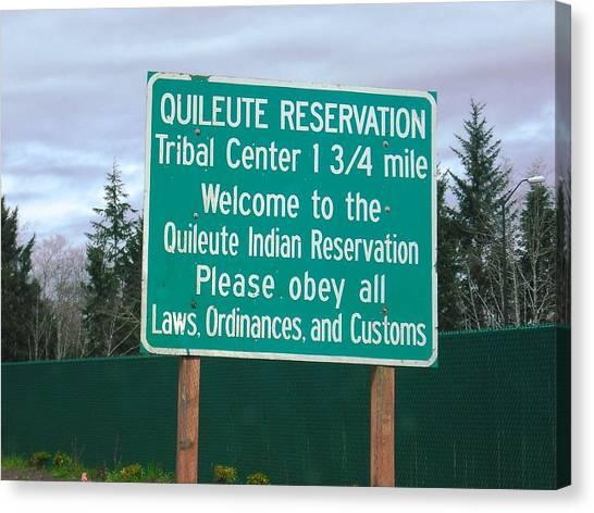 Quileute Reservation La Push Canvas Print