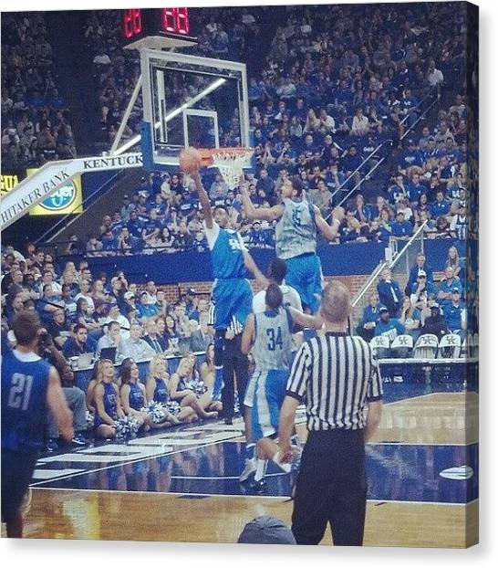 University Of Kentucky Canvas Print - R. Harrow #bbn #weareuk by Cody Medlin