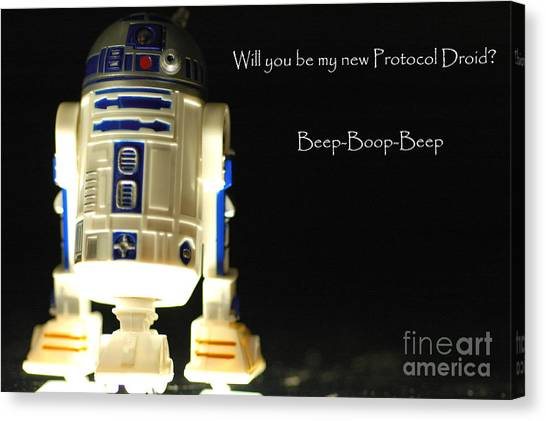 R2-d2 Canvas Print - R2d2 Card  by Micah May