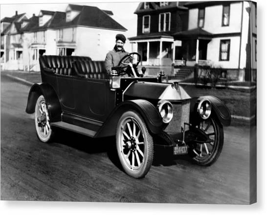Racecar Drivers Canvas Print - Racecar Driver Louis Chevrolet by Everett