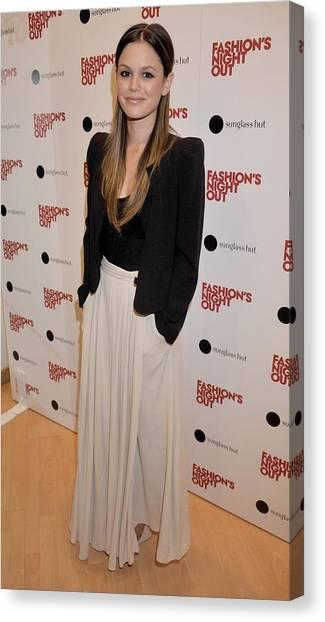 At A Public Appearance Canvas Print - Rachel Bilson Wearing A Vanessa Bruno by Everett