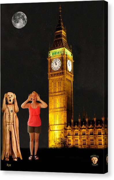 Rachel Hoovler Screams Big Ben Canvas Print by Eric Kempson