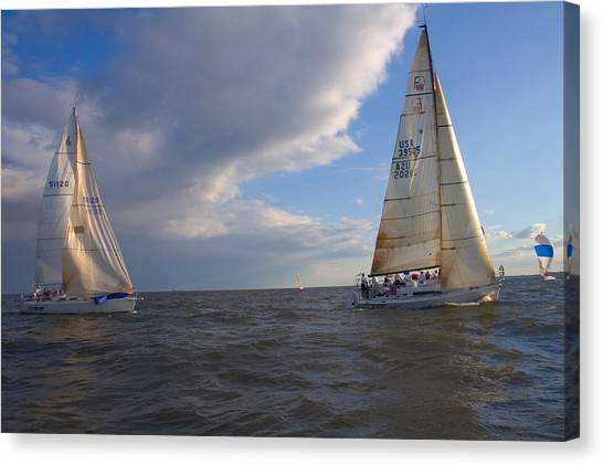 Racing In Annapolis Canvas Print
