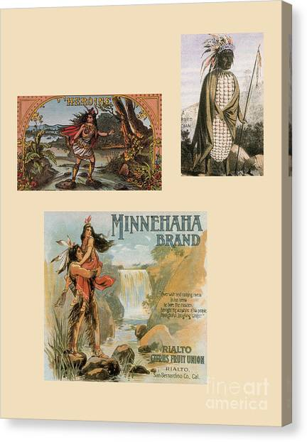 Indian Corn Canvas Print - Racist Advertisements Featuring Native by Photo Researchers