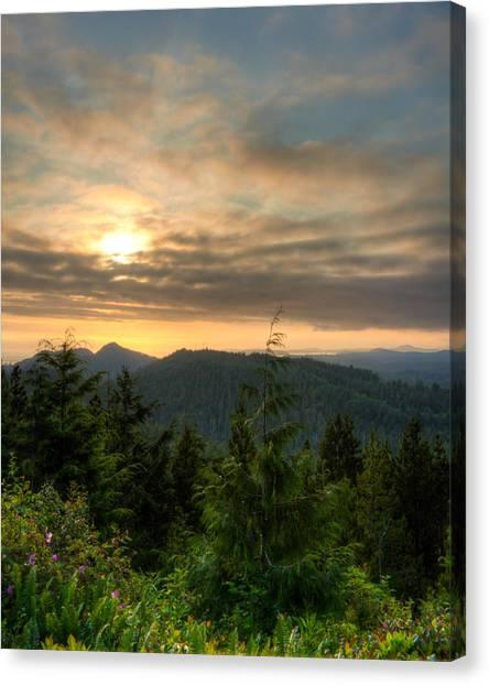 Radar Hill Sunset - Tofino Bc Canada Canvas Print by Matt Dobson