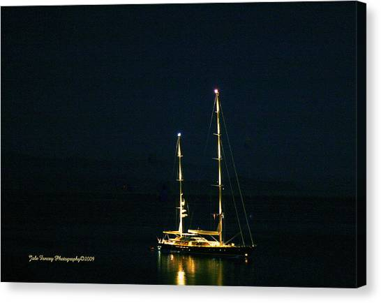 Radiance At Night Canvas Print